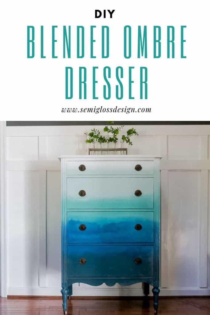 blended ombre dresser