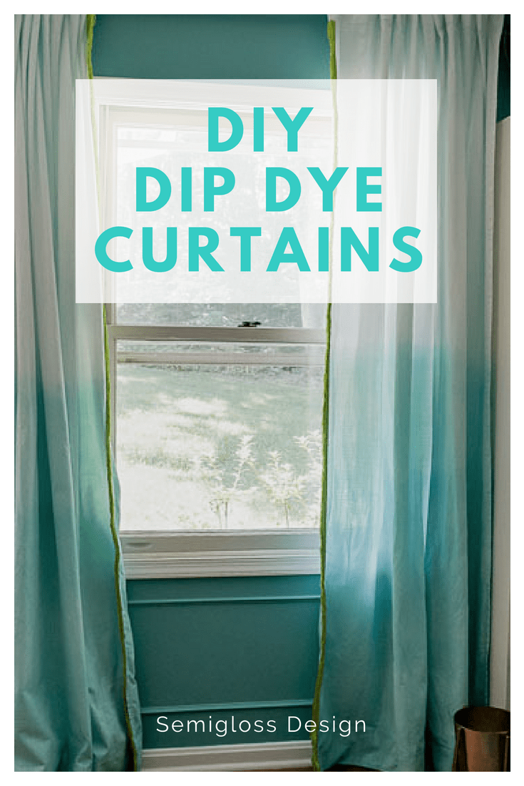 make your own dip dye curtains