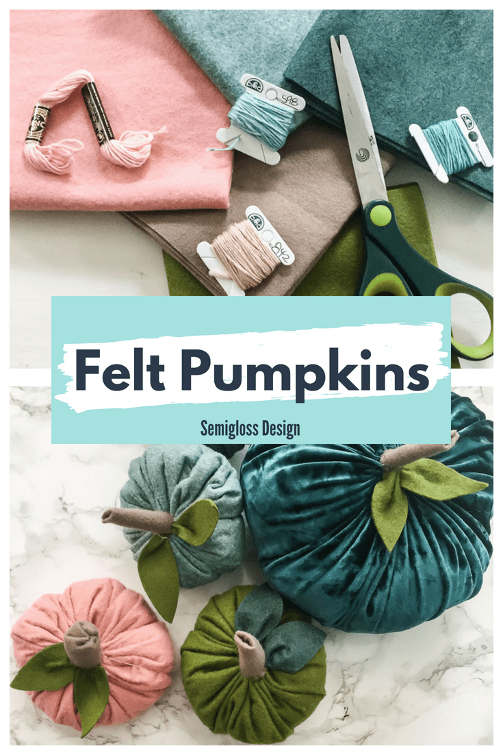 learn how to make your own felt pumpkins