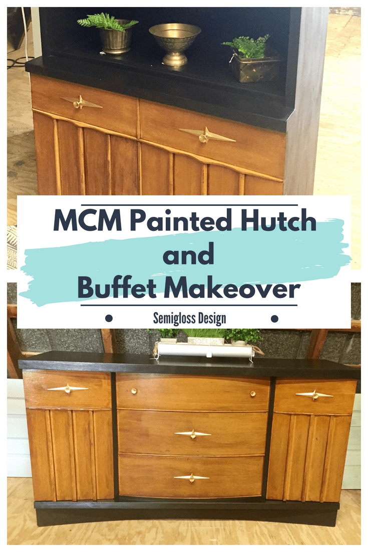 Painted hutch and buffet makeover