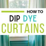 pin image - aqua ombre curtains with lime green fringe trim