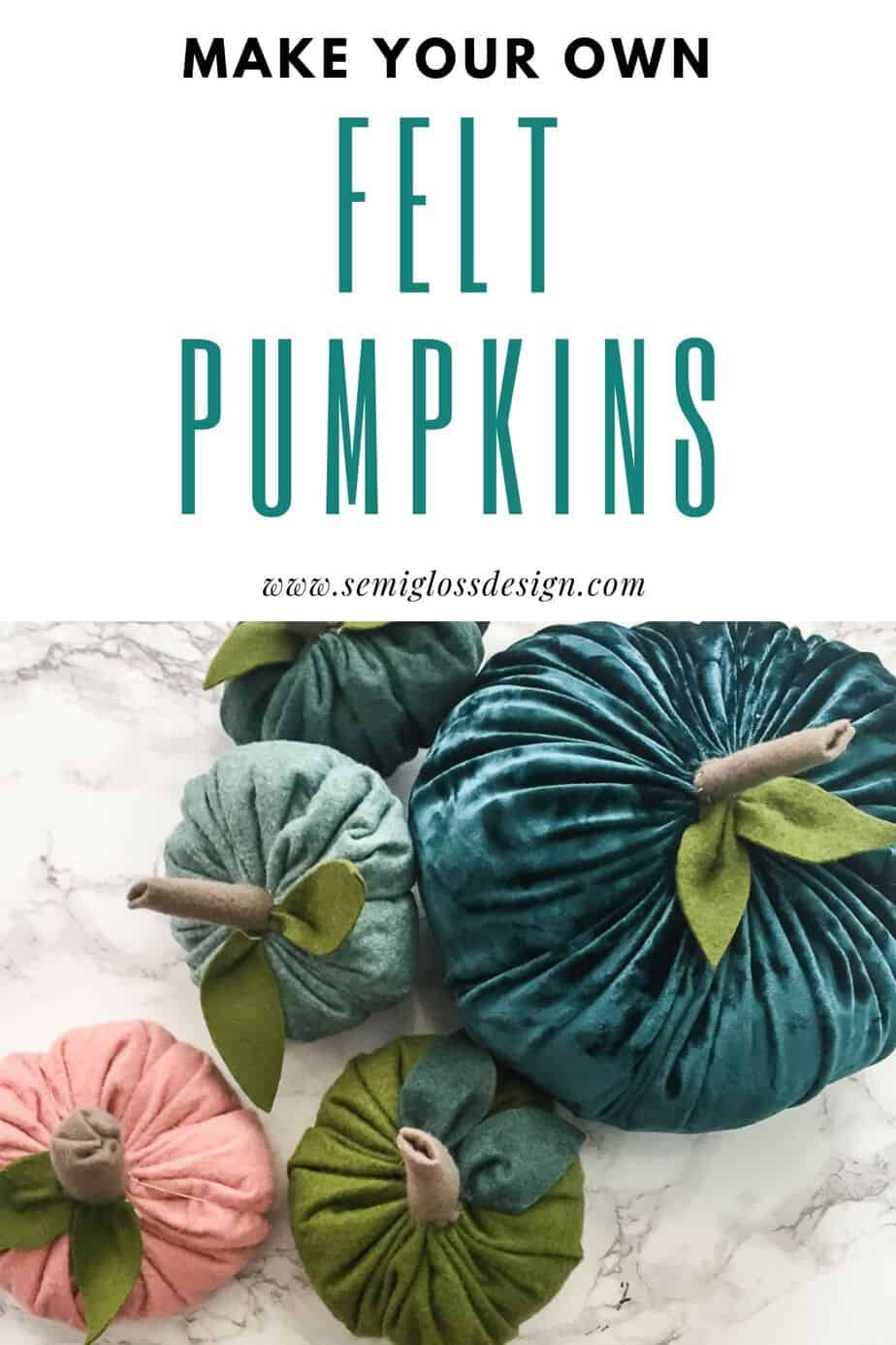 make felt pumpkins
