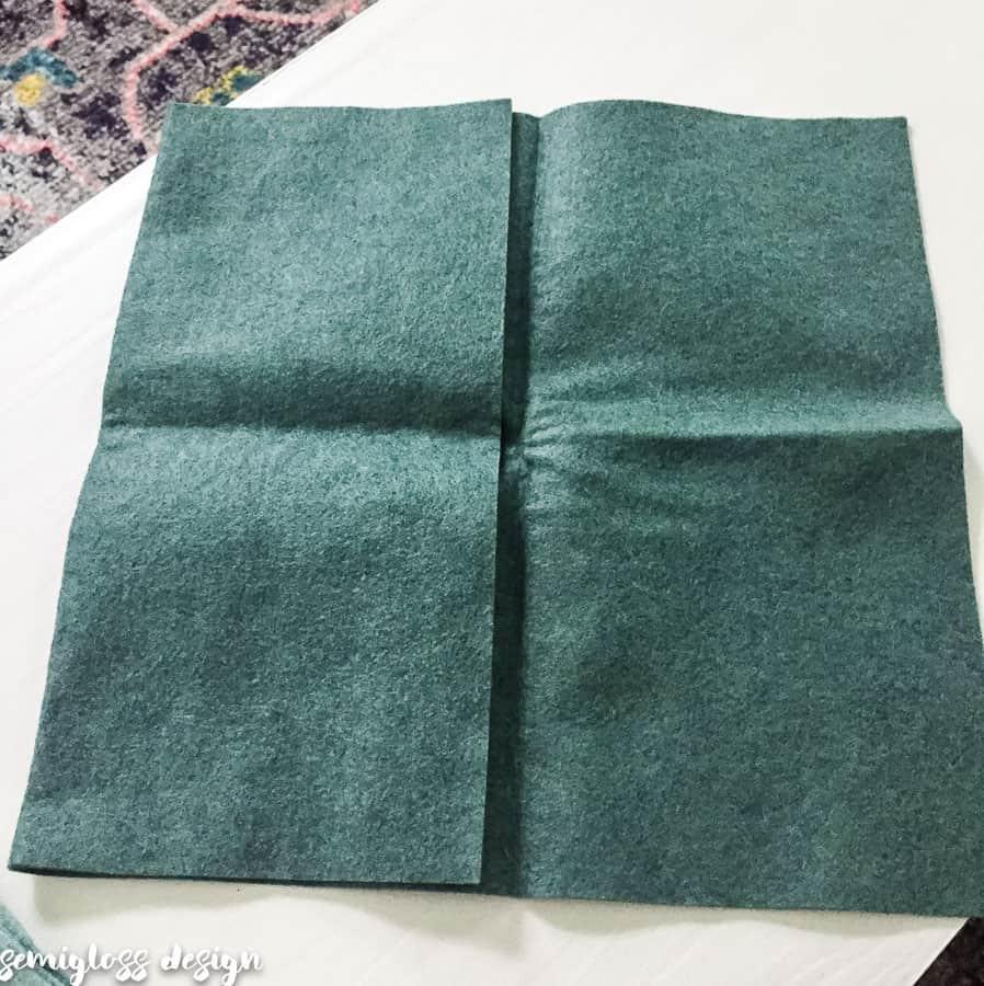 fold felt into square