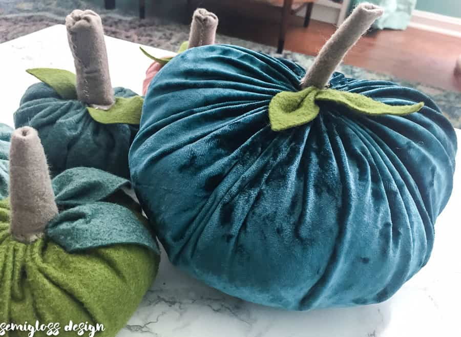 velvet and felt pumpkin
