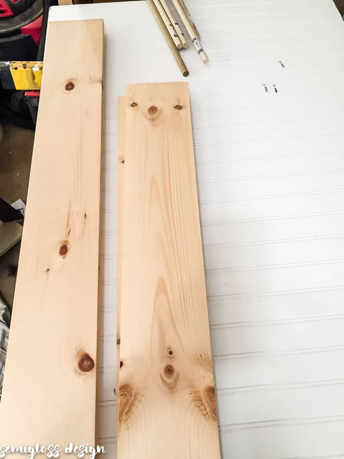 Cut boards to size