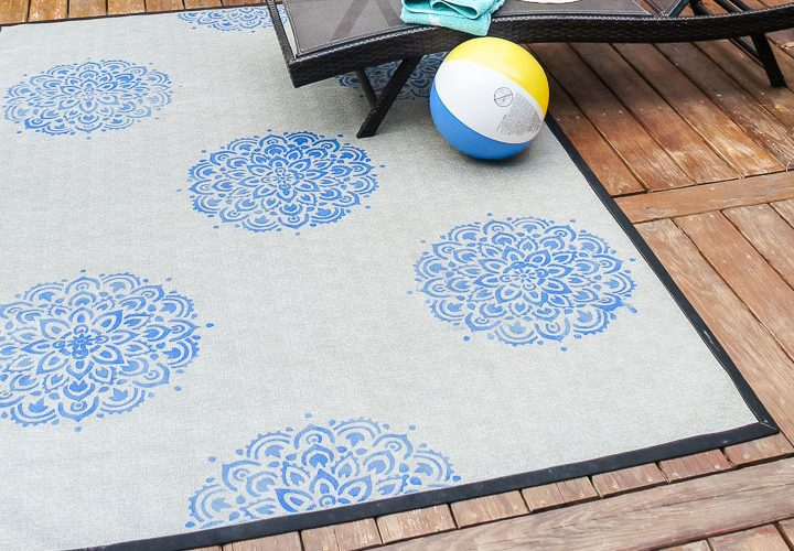 How to Stencil a Rug: Add Style to a Boring Rug