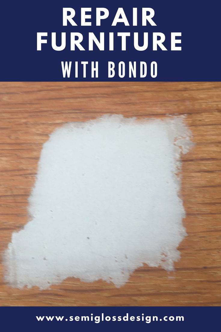furniture repair with bondo