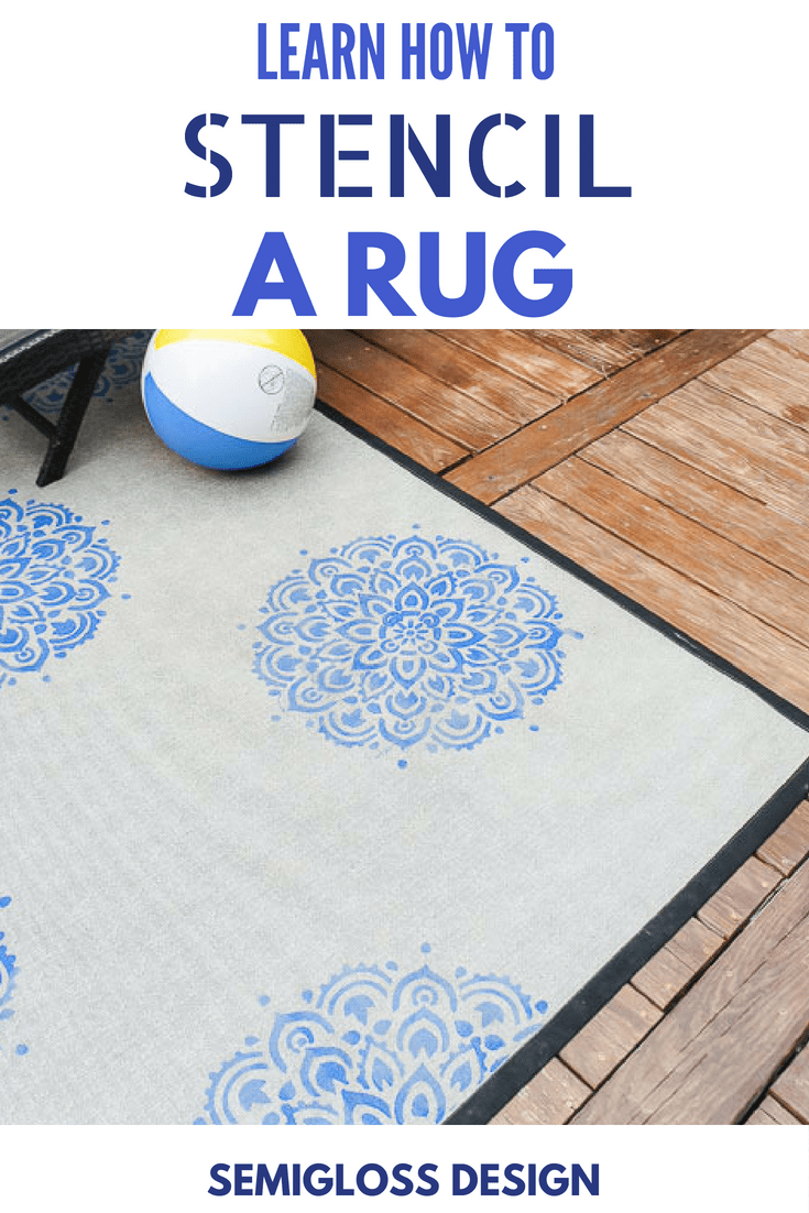 learn how to stencil a rug