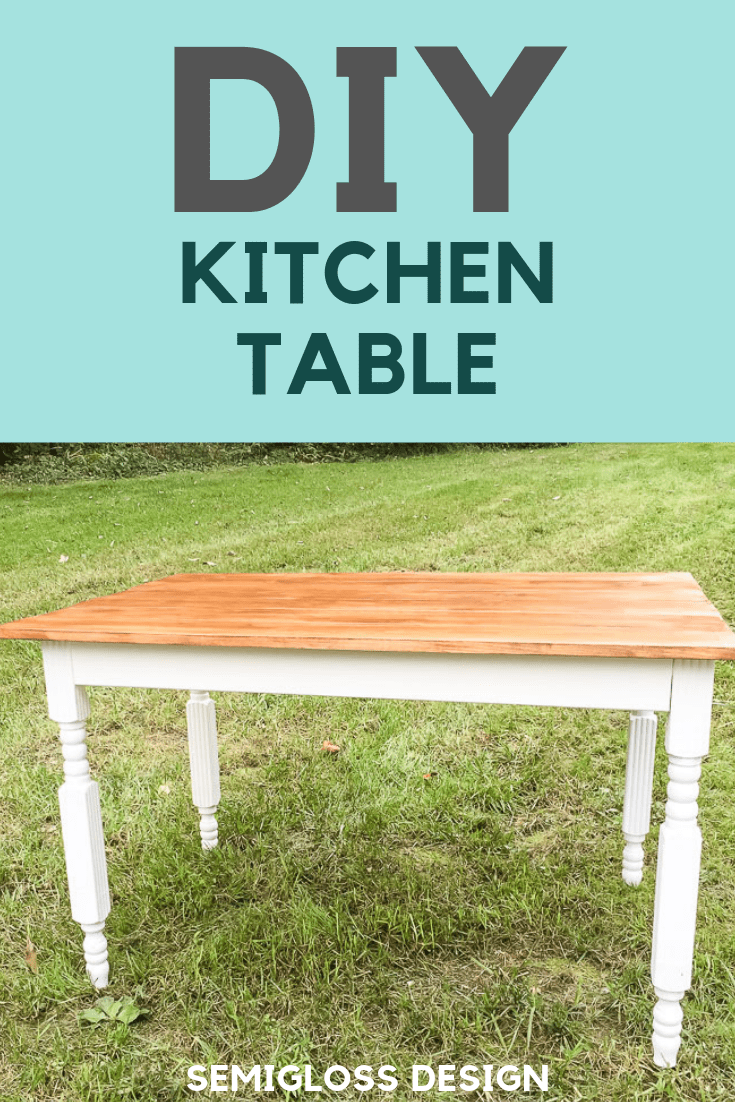 Learn to build a DIY kitchen table.