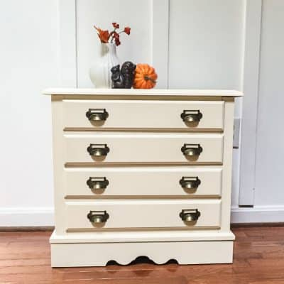 DIY Card Catalog: Painted Chest of Drawers