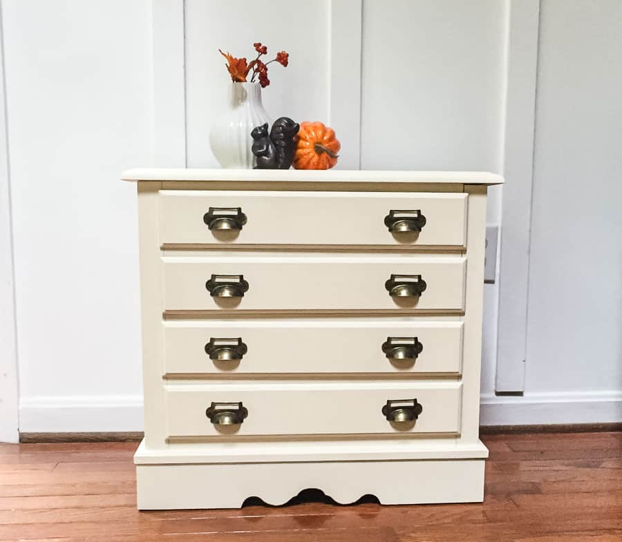 Finished chest of drawer makeover