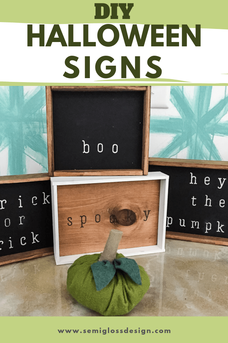 Learn How to Make Your Own Halloween Signs for Fall