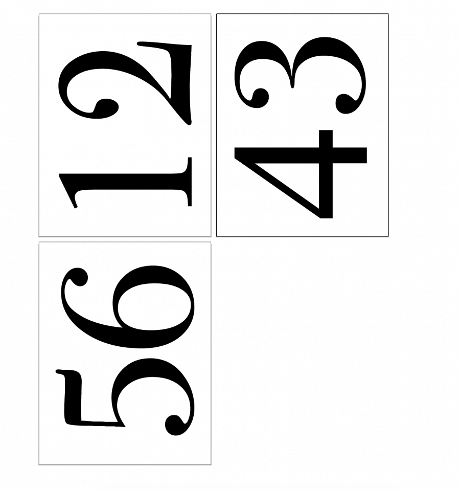 Stretch numbers to fit sign