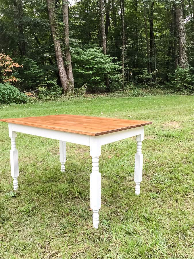 Finished kitchen table