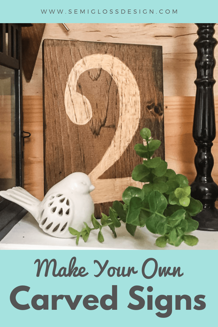 Make your own hand carved signs