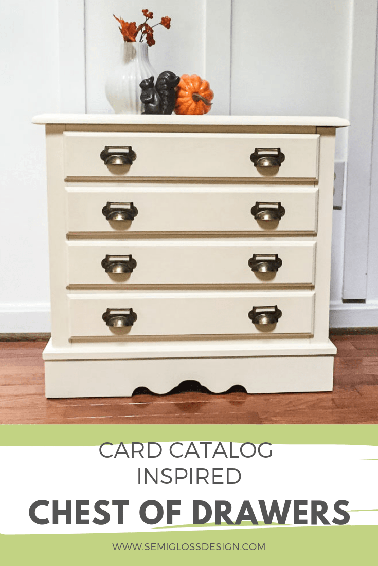 DIY card catalog chest of drawers