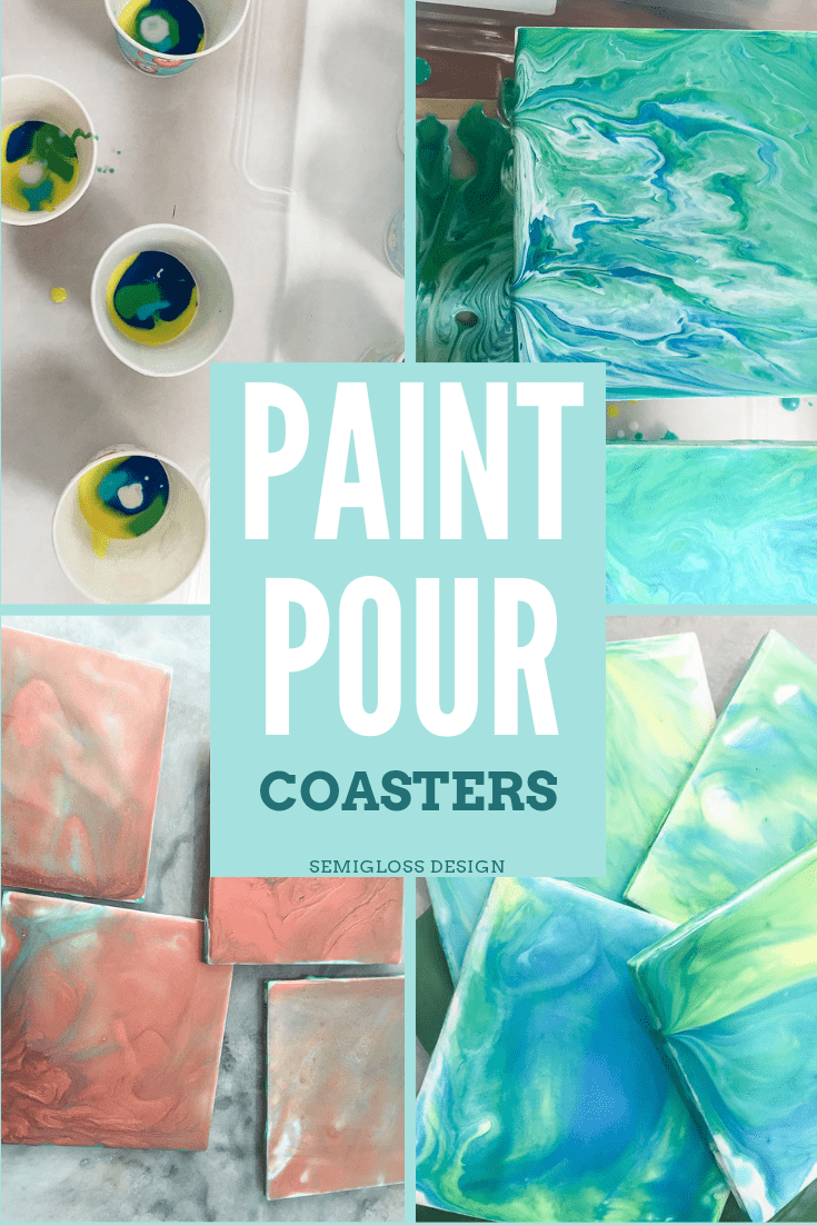 Learn how to use paint pouring to make coasters.
