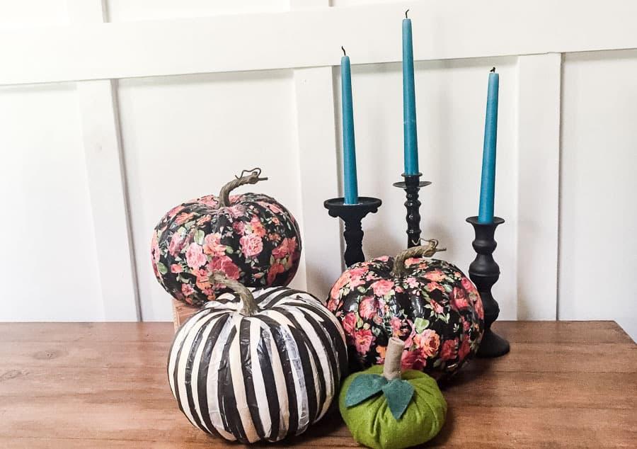 Tissue Paper Decoupage Pumpkins Easy No Carve Pumpkin