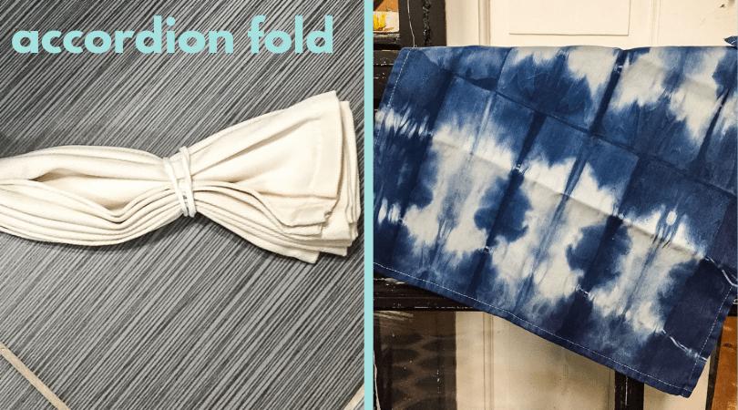 accordian fold for shibori dye