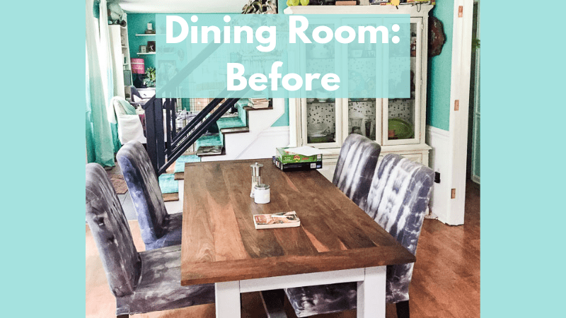 One Room Challenge Week 1: Dining Room Before and Plans