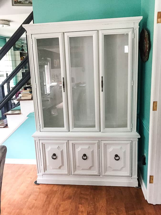 china cabinet painted white