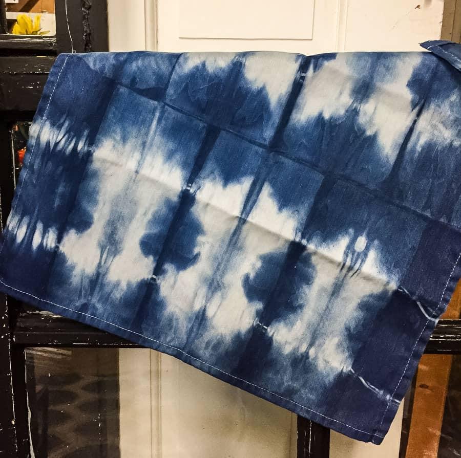 shibori dyed napkin