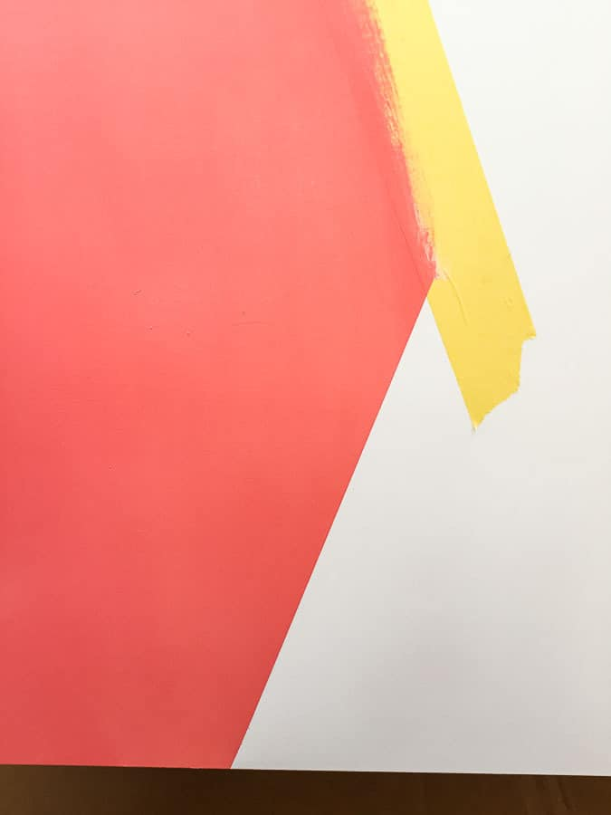 using painters tape for straight lines