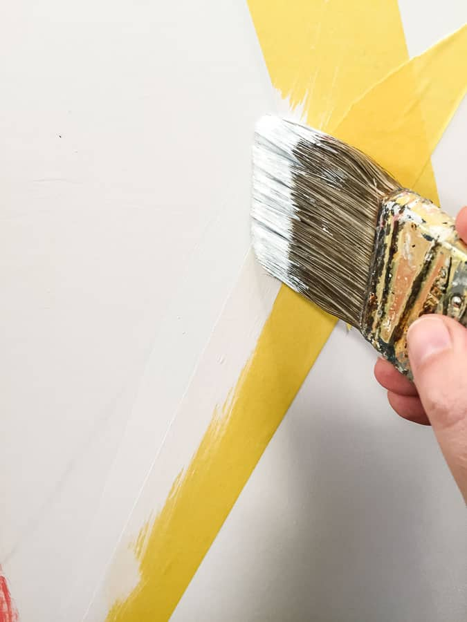 painting straight lines using painters tape without bleed