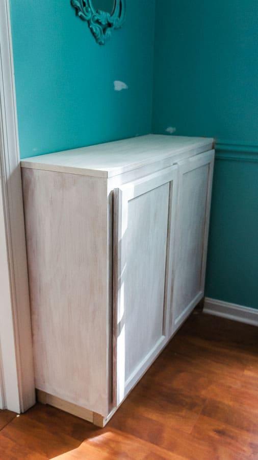 primed built in cabinet
