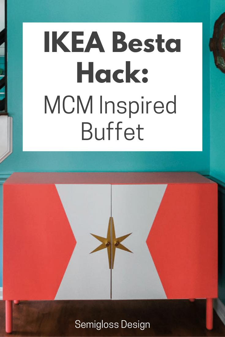 mcm inspired ikea best hack