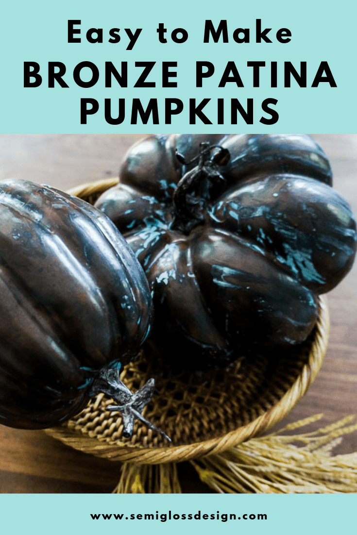 painted metallic pumpkins