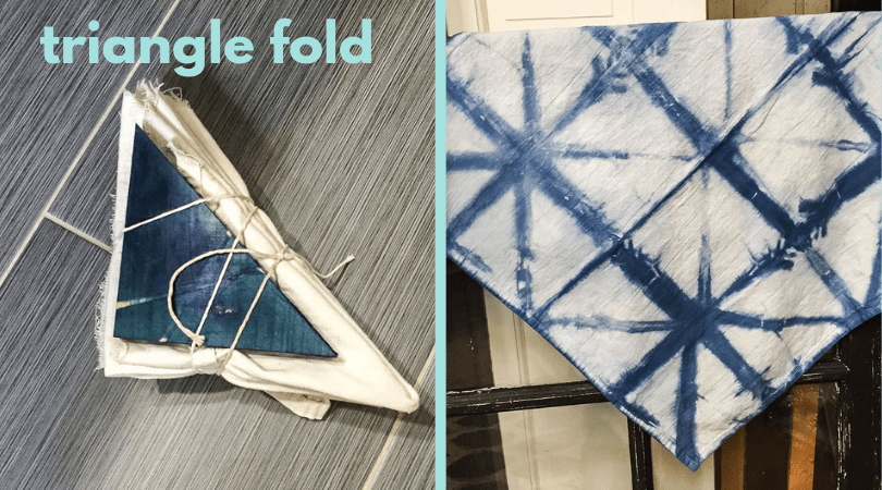 shibori dye triangle fold