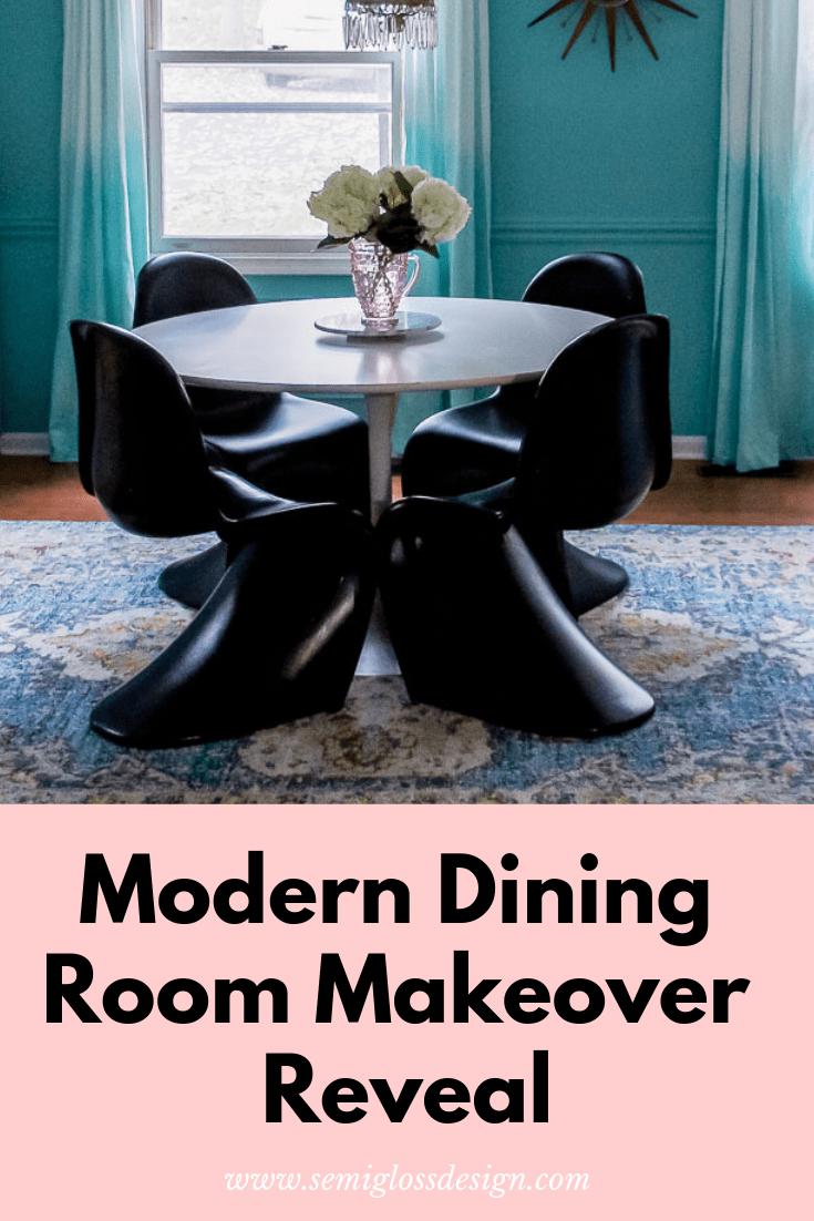 modern dining room makeover reveal