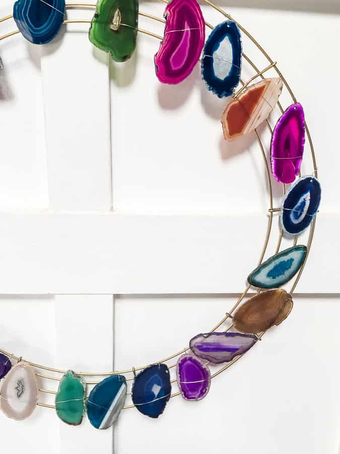 pretty agate boho wreath