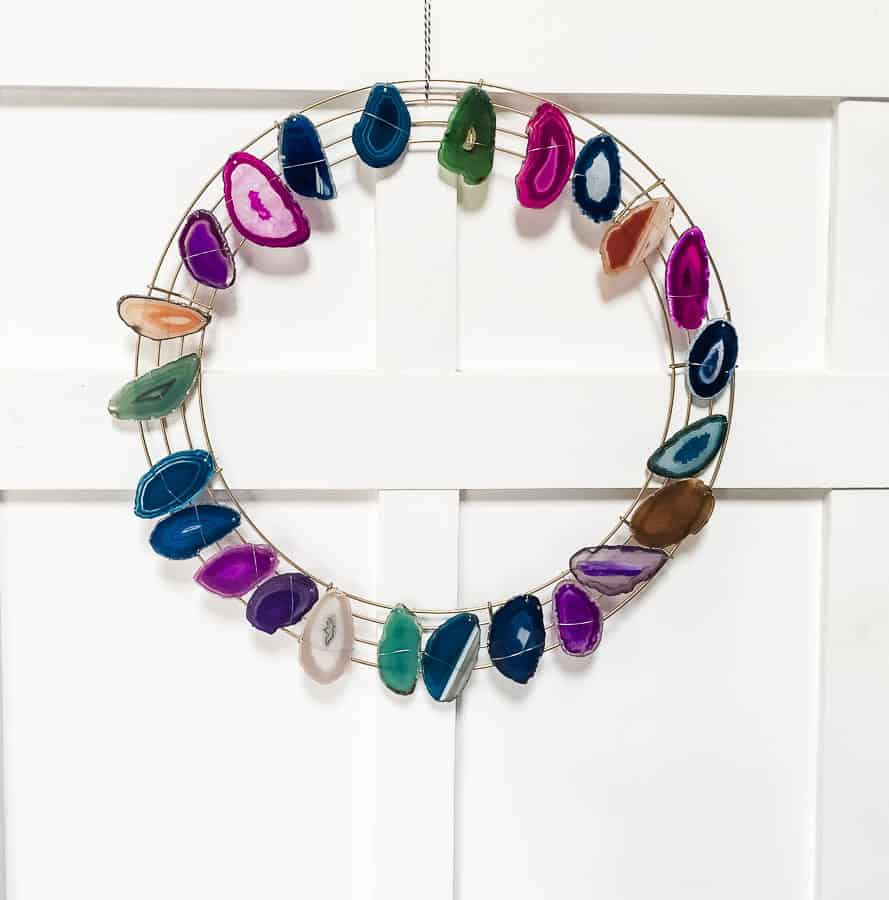 agate diy christmas wreath