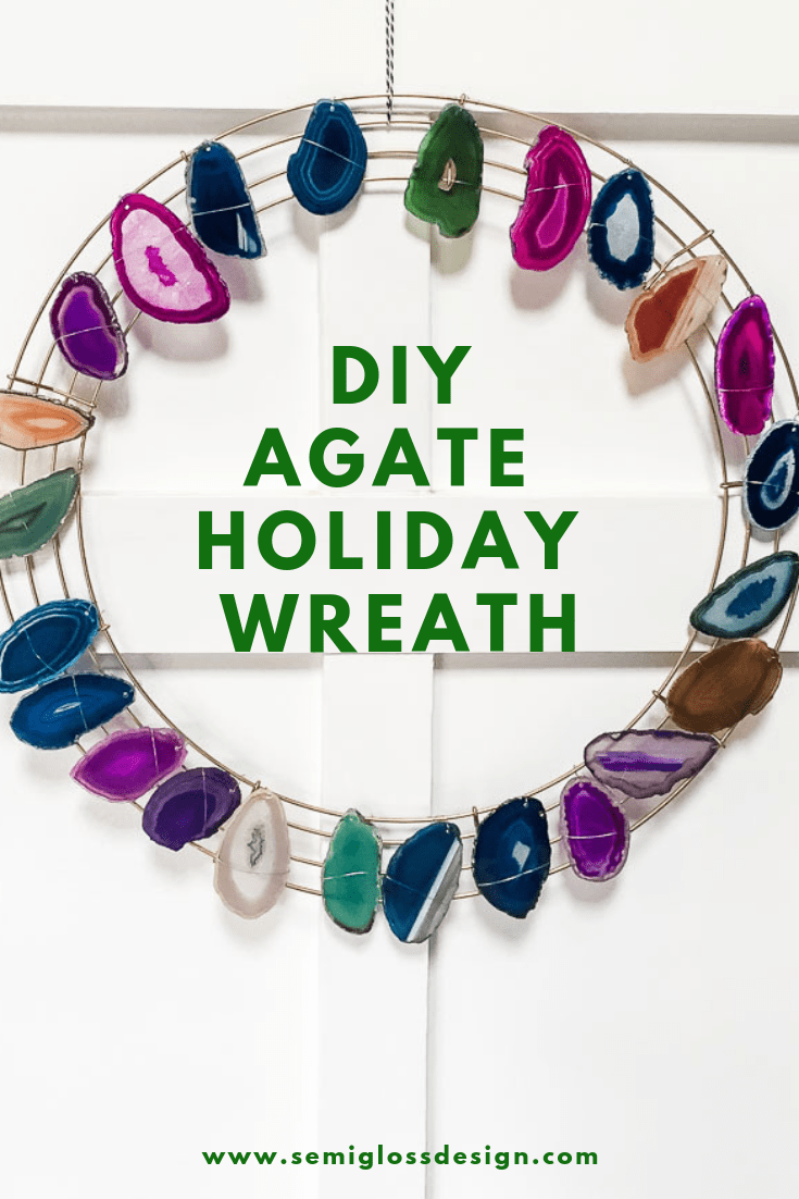 agate slice wreath