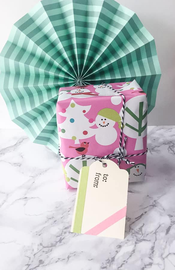 holiday gift tag on present