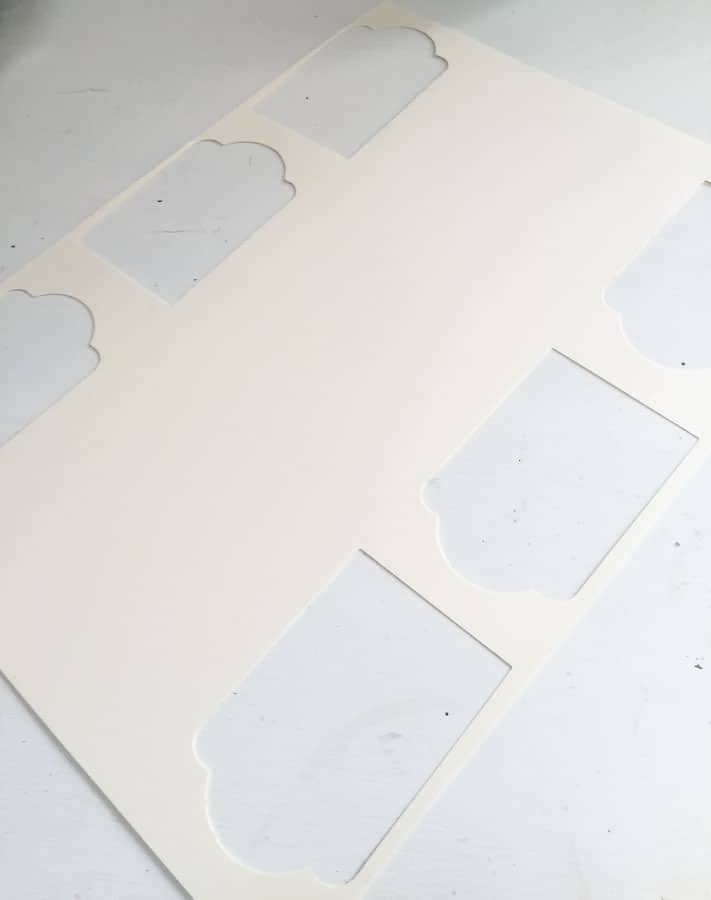 tags punched in card stock