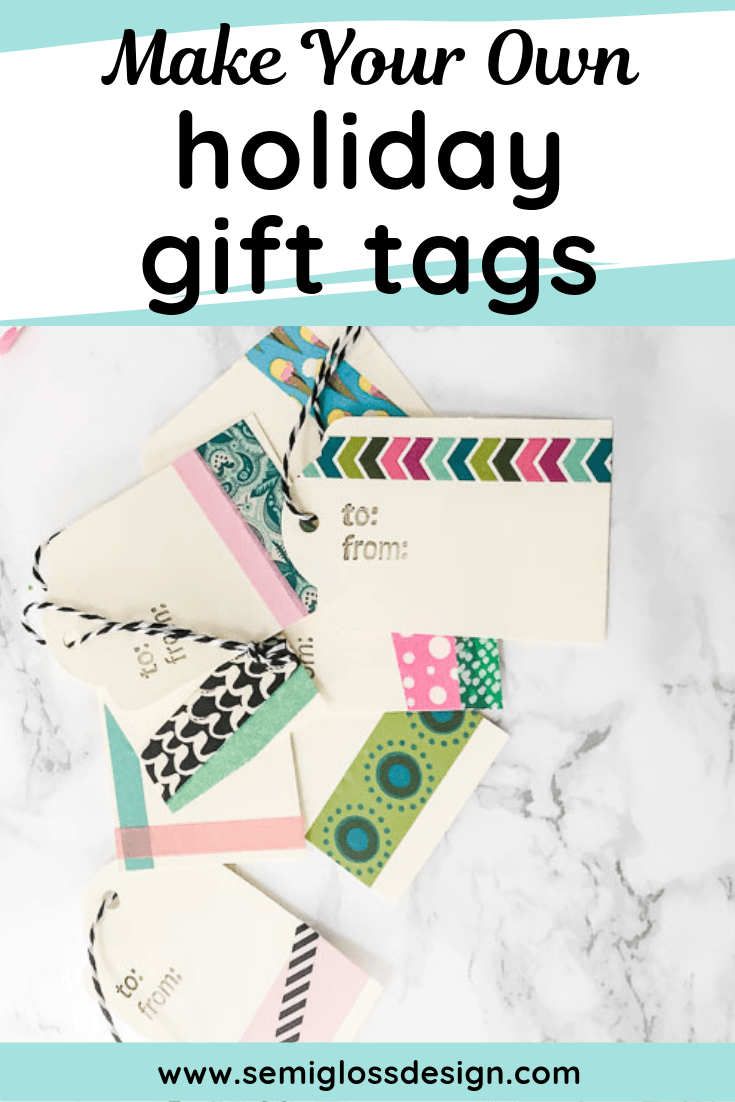make your own holiday gift tags