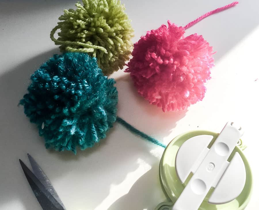 finished pom poms