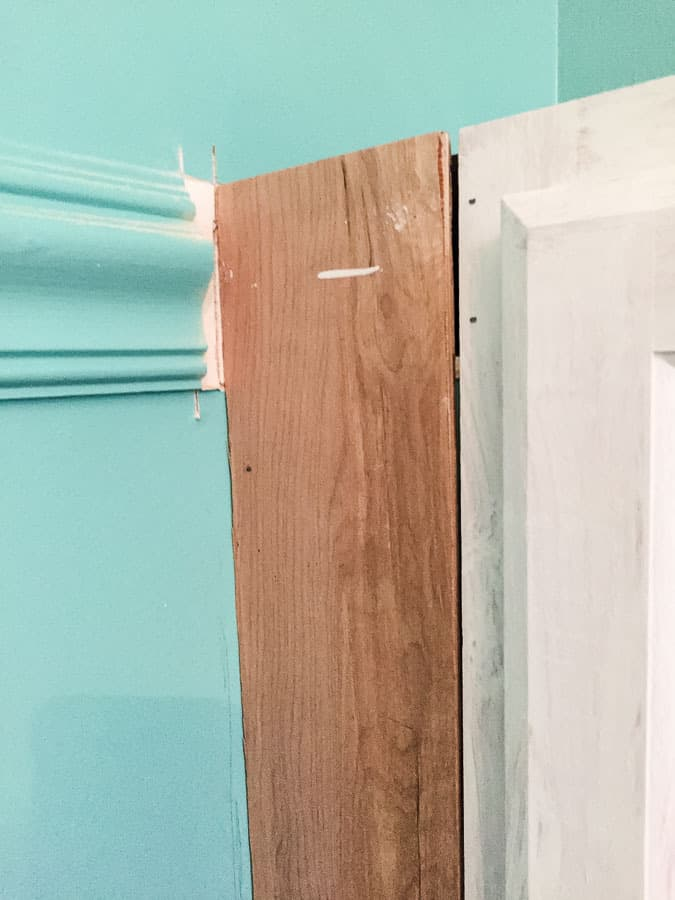 Use scrap wood to make panel for gap