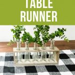 pin image - buffalo check table runner DIY
