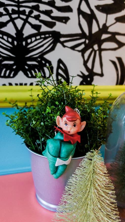 elf on plant