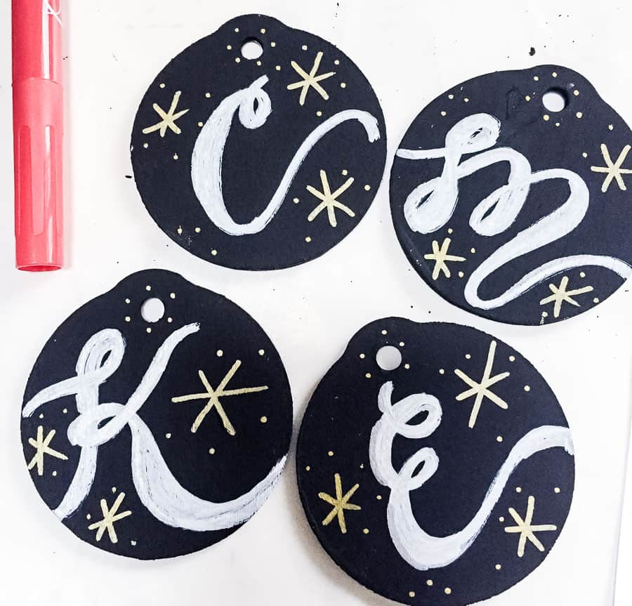 add gold details with chalk markers