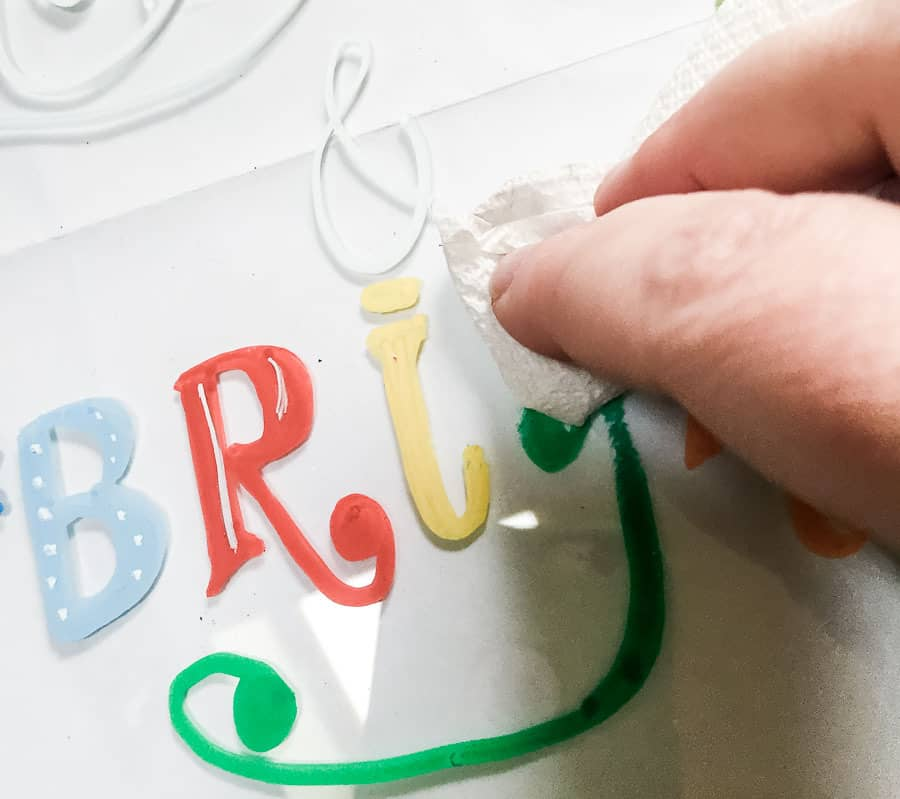 It's easy to clean chalk markers from glass