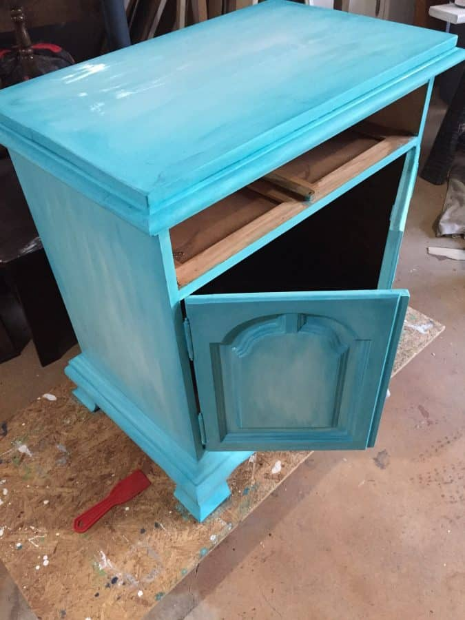 layered chalk paint process