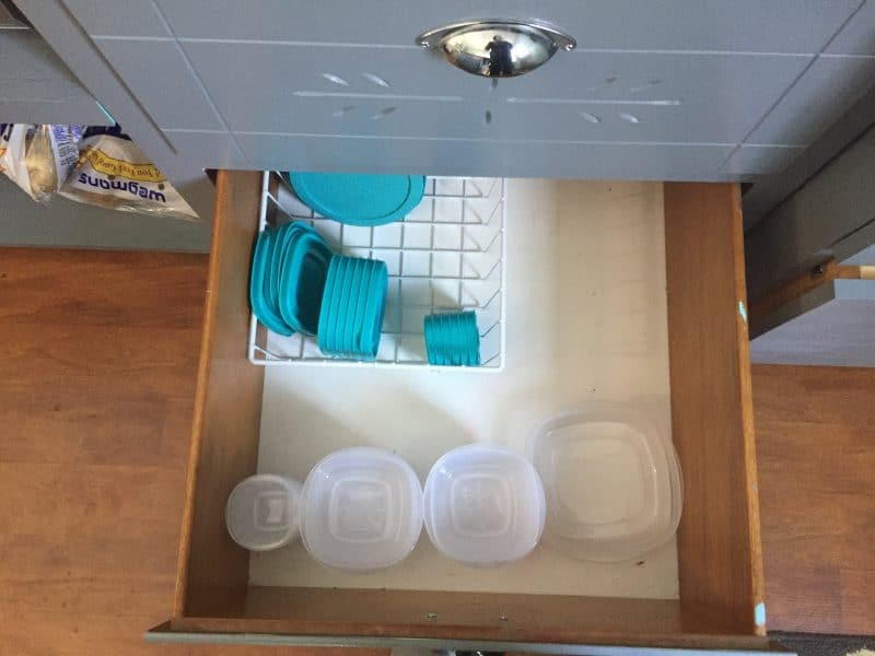plastic container drawer after konmari