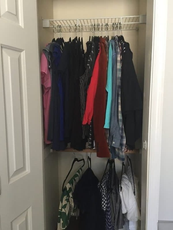 closet after konmari