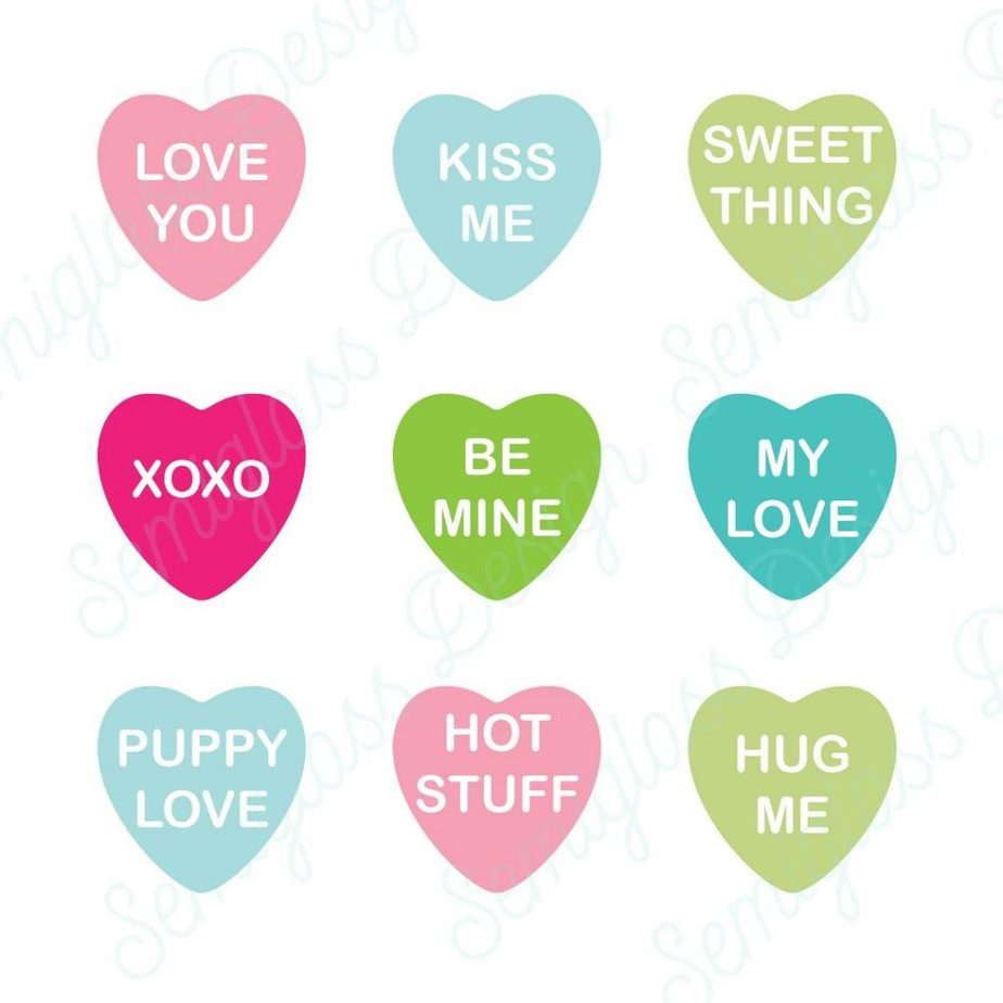 conversation hearts for valentine's day svgs
