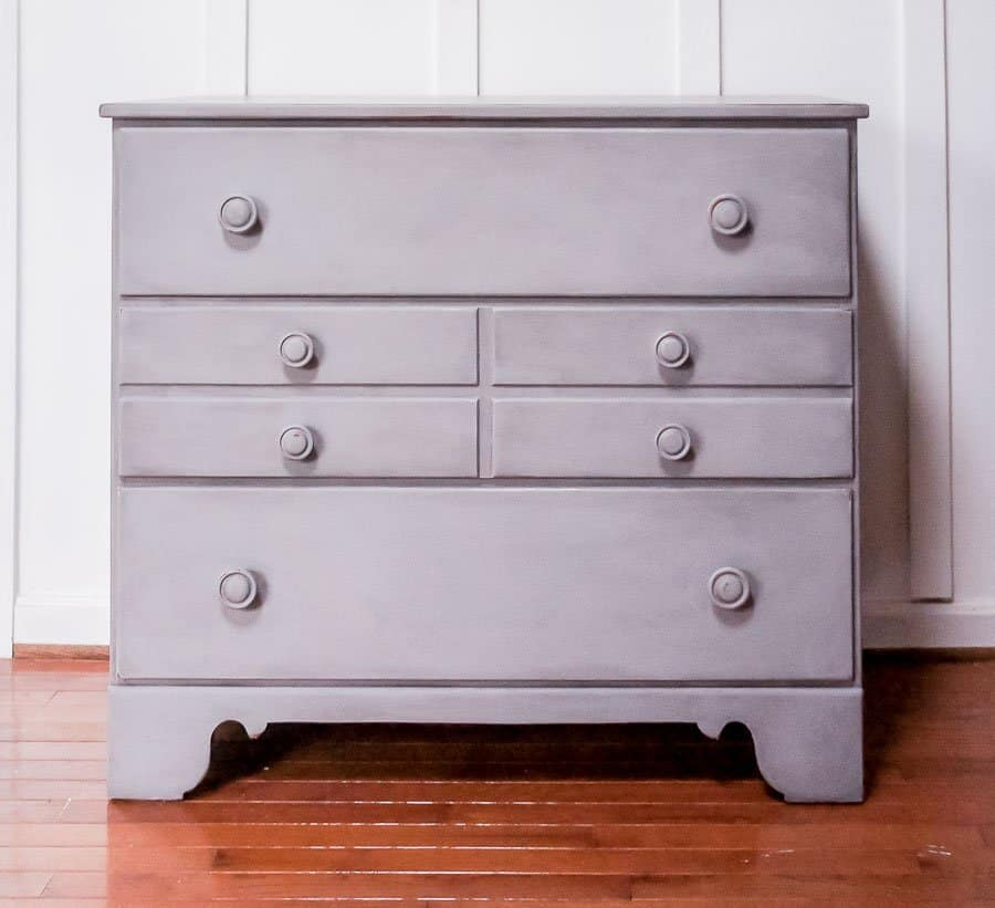dresser painted in Country Chic Paint in Pebble beach